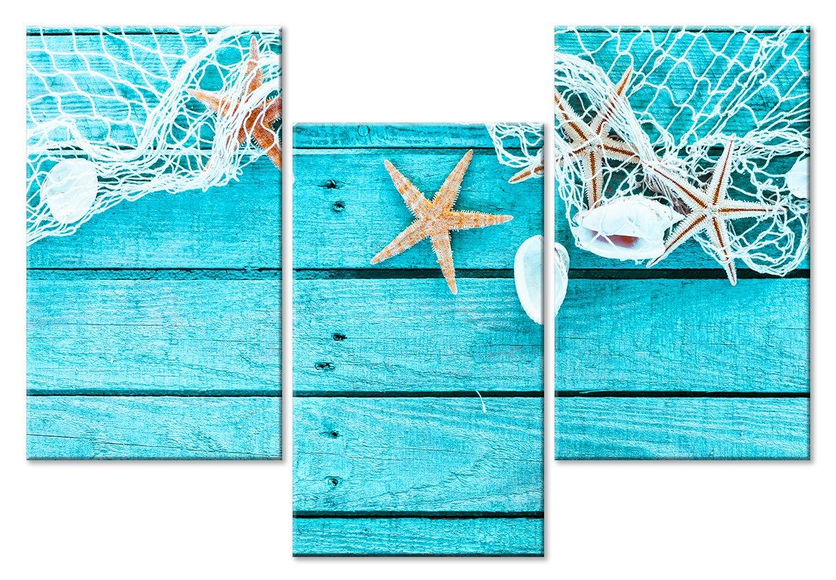 Модульная картина «Морская атрибутика»Море<br>Модульная картина на натуральном холсте и деревянном подрамнике. Подвес в комплекте. Трехслойная надежная упаковка. Доставим в любую точку России. Вам осталось только повесить картину на стену!<br>