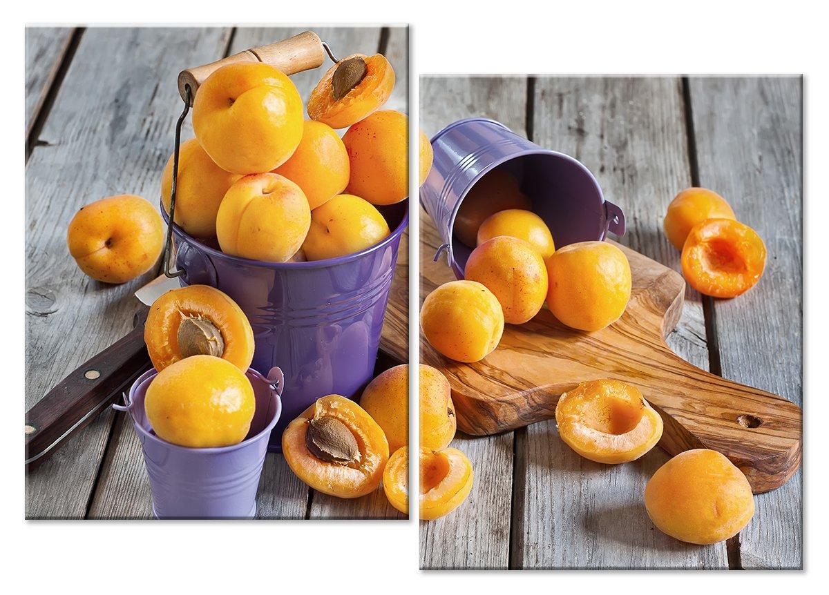 Модульная картина «Урожай абрикосов»Натюрморт<br>Модульная картина на натуральном холсте и деревянном подрамнике. Подвес в комплекте. Трехслойная надежная упаковка. Доставим в любую точку России. Вам осталось только повесить картину на стену!<br>