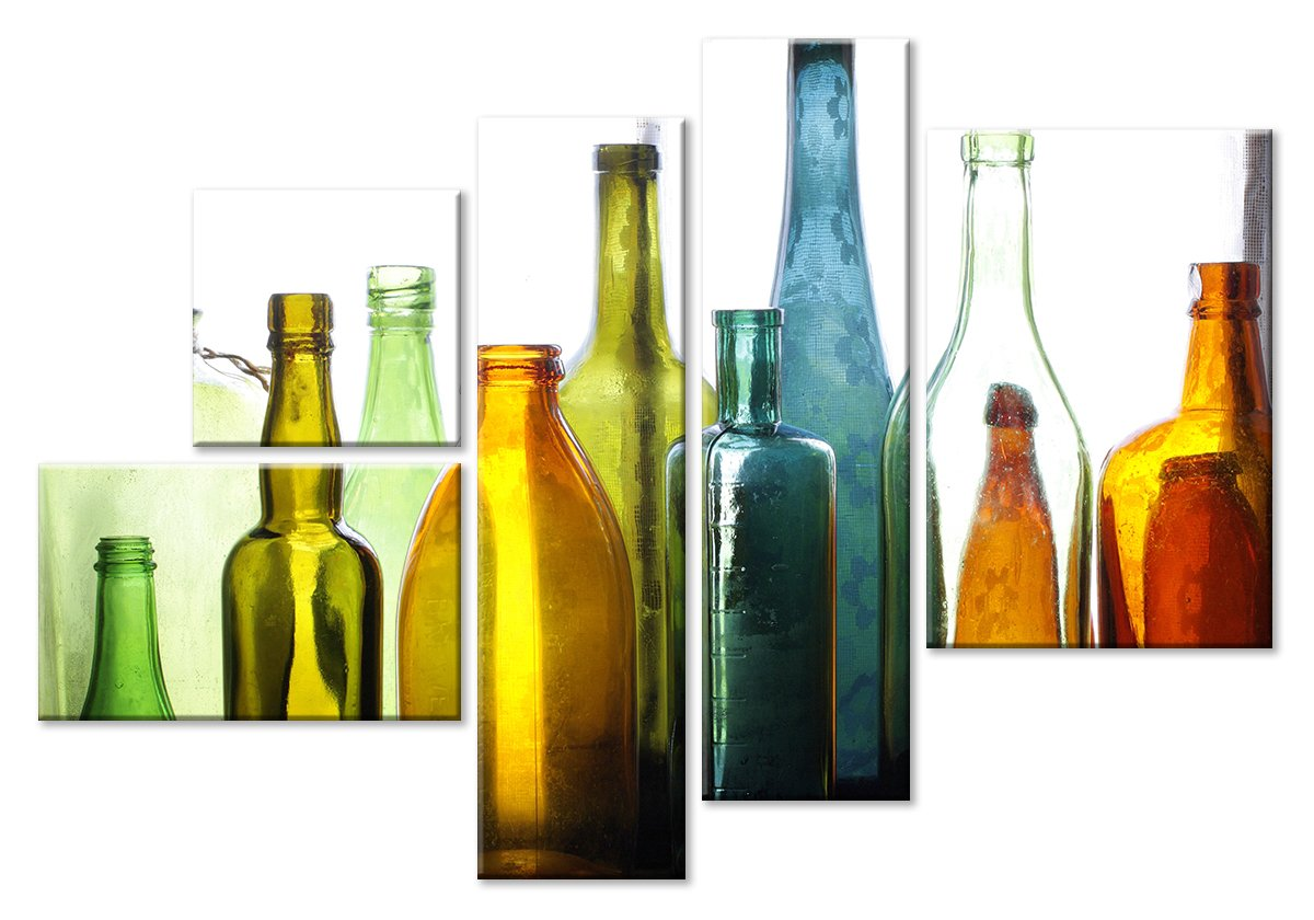 Модульная картина «Разноцветные бутылки»Натюрморт<br>Модульная картина на натуральном холсте и деревянном подрамнике. Подвес в комплекте. Трехслойная надежная упаковка. Доставим в любую точку России. Вам осталось только повесить картину на стену!<br>