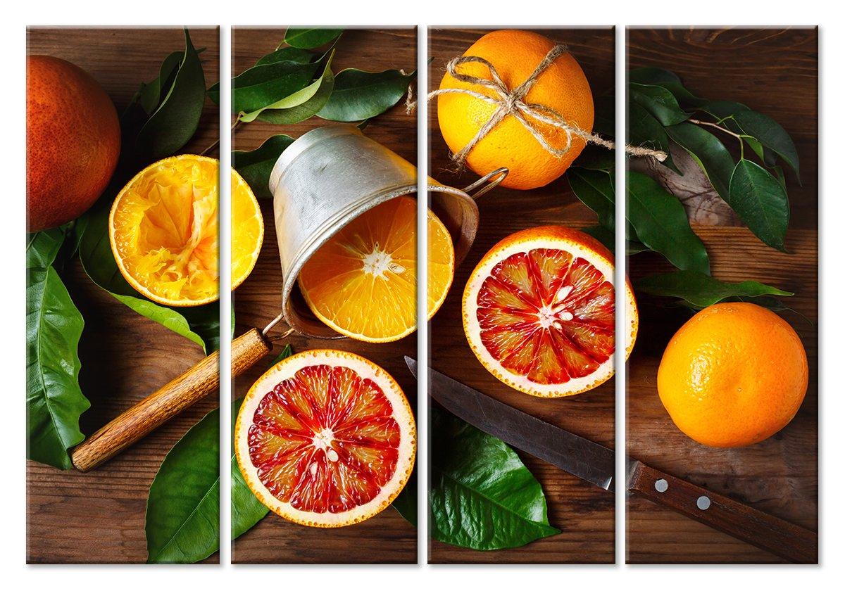 Модульная картина «Апельсиновый сок»Фрукты<br>Модульная картина на натуральном холсте и деревянном подрамнике. Подвес в комплекте. Трехслойная надежная упаковка. Доставим в любую точку России. Вам осталось только повесить картину на стену!<br>