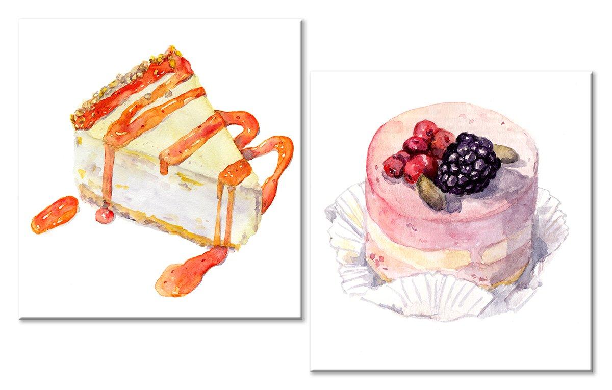 Модульная картина «Десерт»Натюрморт<br>Модульная картина на натуральном холсте и деревянном подрамнике. Подвес в комплекте. Трехслойная надежная упаковка. Доставим в любую точку России. Вам осталось только повесить картину на стену!<br>