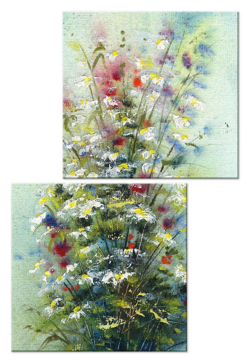 Модульная картина «Полевые цветы»Цветы<br>Модульная картина на натуральном холсте и деревянном подрамнике. Подвес в комплекте. Трехслойная надежная упаковка. Доставим в любую точку России. Вам осталось только повесить картину на стену!<br>