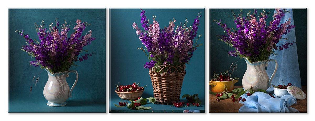 Модульная картина «Усложняя прекрасное»Цветы<br>Модульная картина на натуральном холсте и деревянном подрамнике. Подвес в комплекте. Трехслойная надежная упаковка. Доставим в любую точку России. Вам осталось только повесить картину на стену!<br>