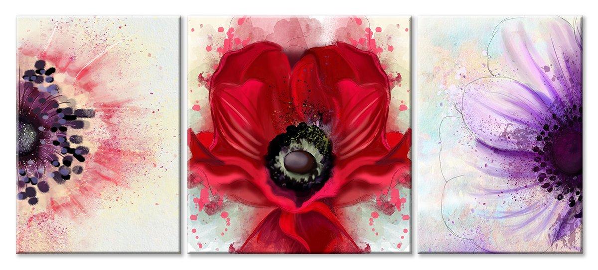 Модульная картина «Пестики и тычинки»Цветы<br>Модульная картина на натуральном холсте и деревянном подрамнике. Подвес в комплекте. Трехслойная надежная упаковка. Доставим в любую точку России. Вам осталось только повесить картину на стену!<br>