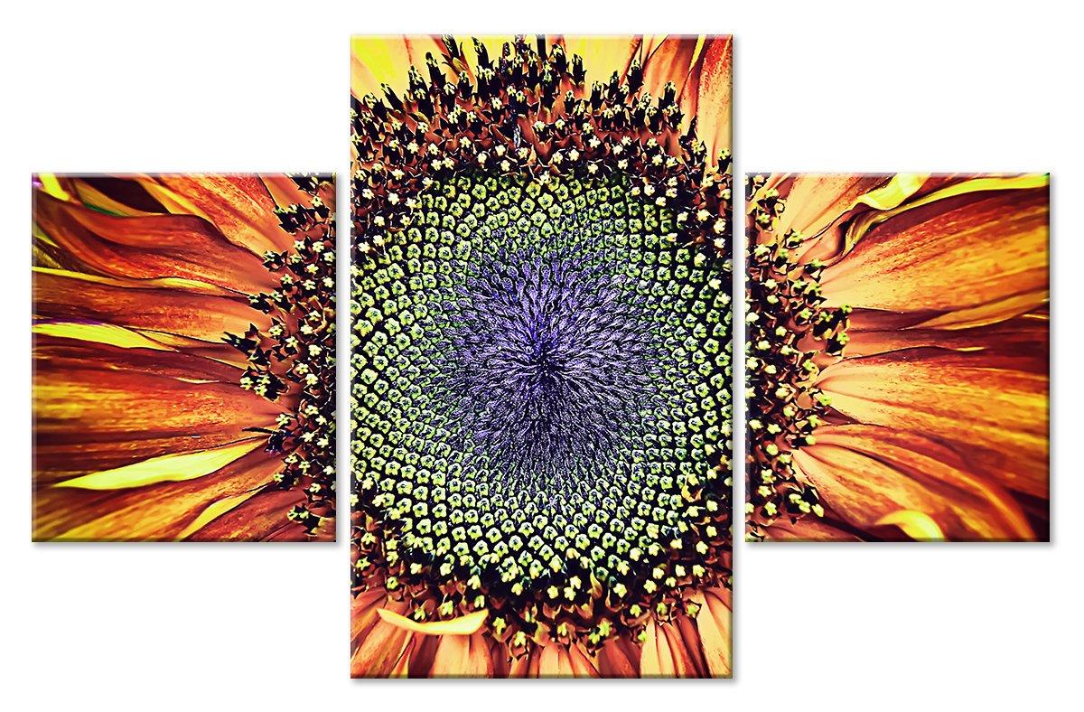 Модульная картина «Сердце цветка»Цветы<br>Модульная картина на натуральном холсте и деревянном подрамнике. Подвес в комплекте. Трехслойная надежная упаковка. Доставим в любую точку России. Вам осталось только повесить картину на стену!<br>