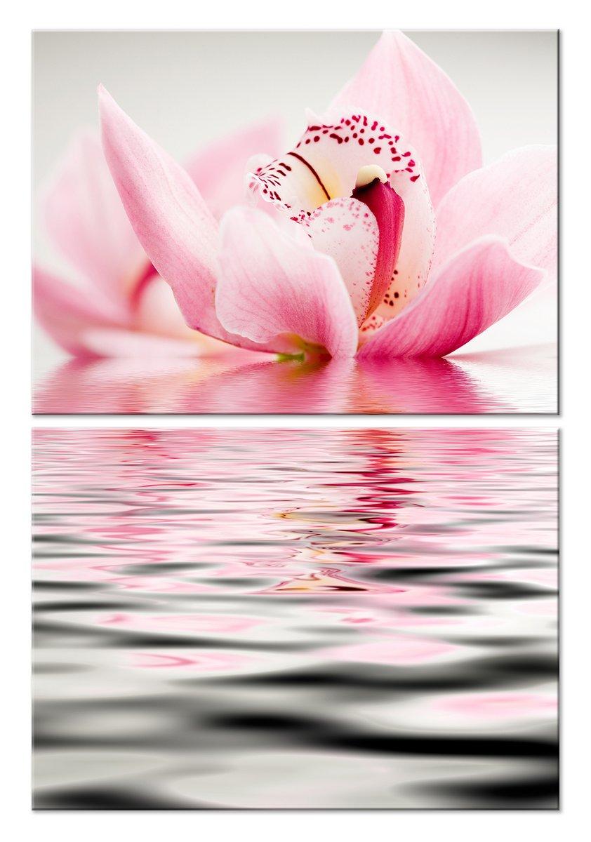 Модульная картина «Цветы на воде»Цветы<br>Модульная картина на натуральном холсте и деревянном подрамнике. Подвес в комплекте. Трехслойная надежная упаковка. Доставим в любую точку России. Вам осталось только повесить картину на стену!<br>