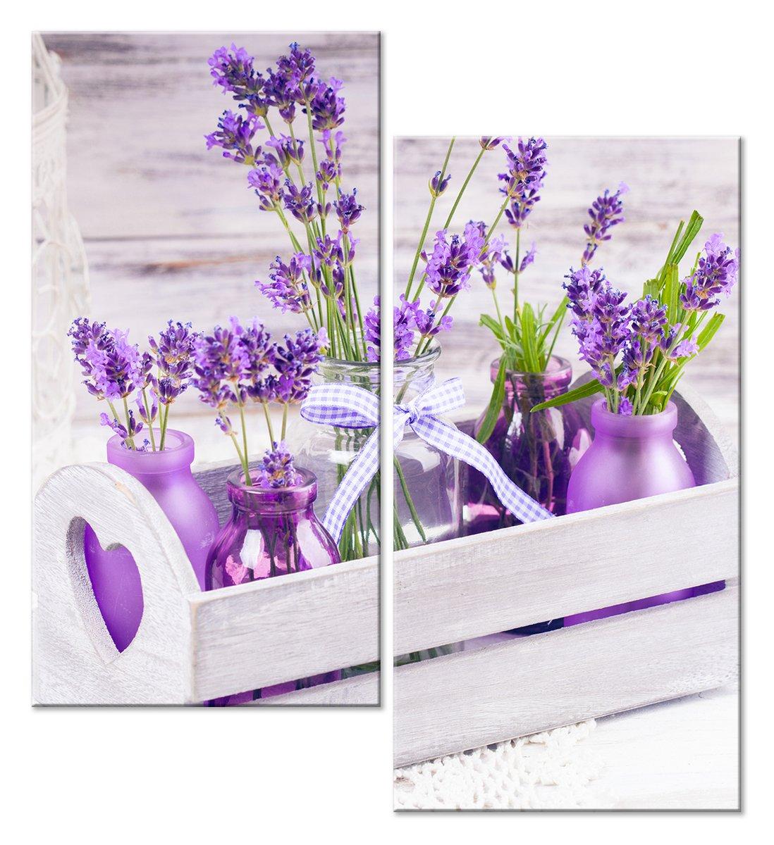 Модульная картина «Фиолетовая композиция»Цветы<br>Модульная картина на натуральном холсте и деревянном подрамнике. Подвес в комплекте. Трехслойная надежная упаковка. Доставим в любую точку России. Вам осталось только повесить картину на стену!<br>