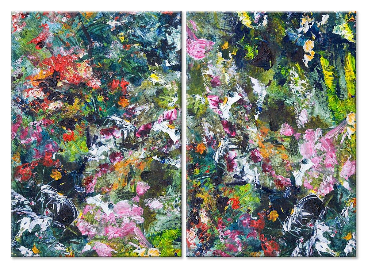 Модульная картина «Цветочное буйство»Цветы<br>Модульная картина на натуральном холсте и деревянном подрамнике. Подвес в комплекте. Трехслойная надежная упаковка. Доставим в любую точку России. Вам осталось только повесить картину на стену!<br>