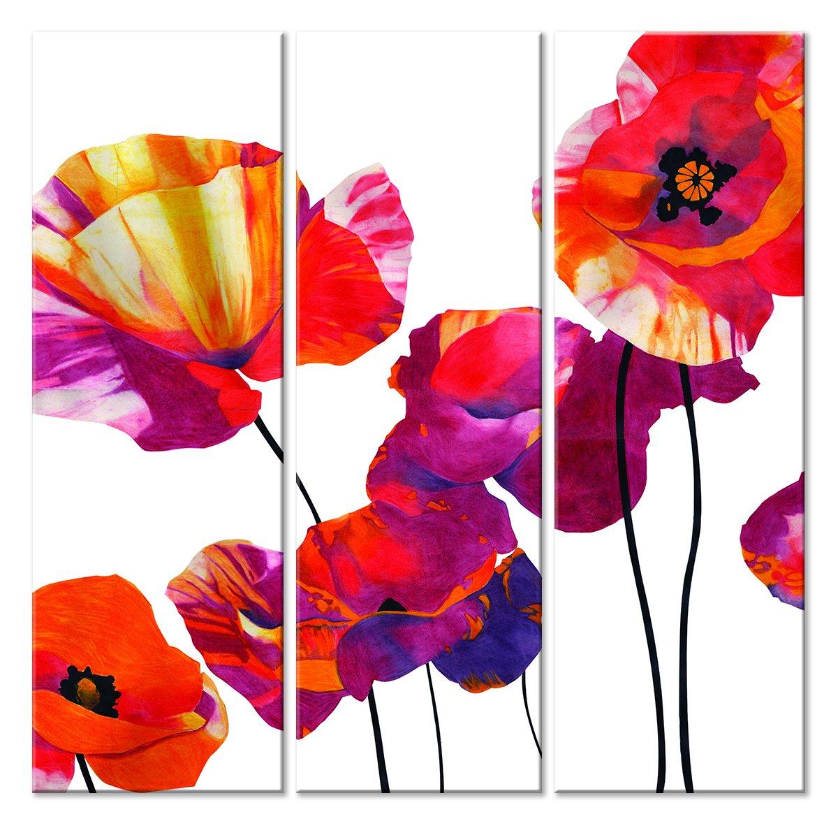 Модульная картина «Маки»Цветы<br>Модульная картина на натуральном холсте и деревянном подрамнике. Подвес в комплекте. Трехслойная надежная упаковка. Доставим в любую точку России. Вам осталось только повесить картину на стену!<br>