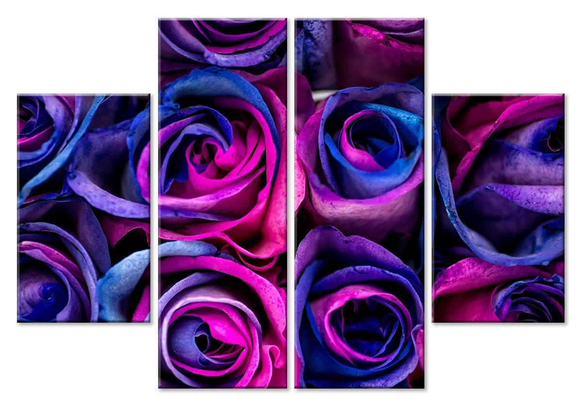 Модульная картина «Розы в холодном цвете»Цветы<br>Модульная картина на натуральном холсте и деревянном подрамнике. Подвес в комплекте. Трехслойная надежная упаковка. Доставим в любую точку России. Вам осталось только повесить картину на стену!<br>