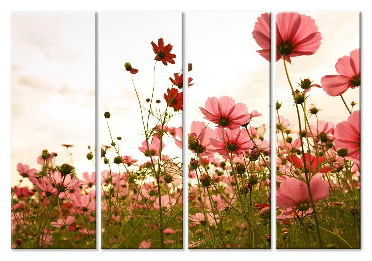 Модульная картина «Цветы на лугу»Цветы<br>Модульная картина на натуральном холсте и деревянном подрамнике. Подвес в комплекте. Трехслойная надежная упаковка. Доставим в любую точку России. Вам осталось только повесить картину на стену!<br>