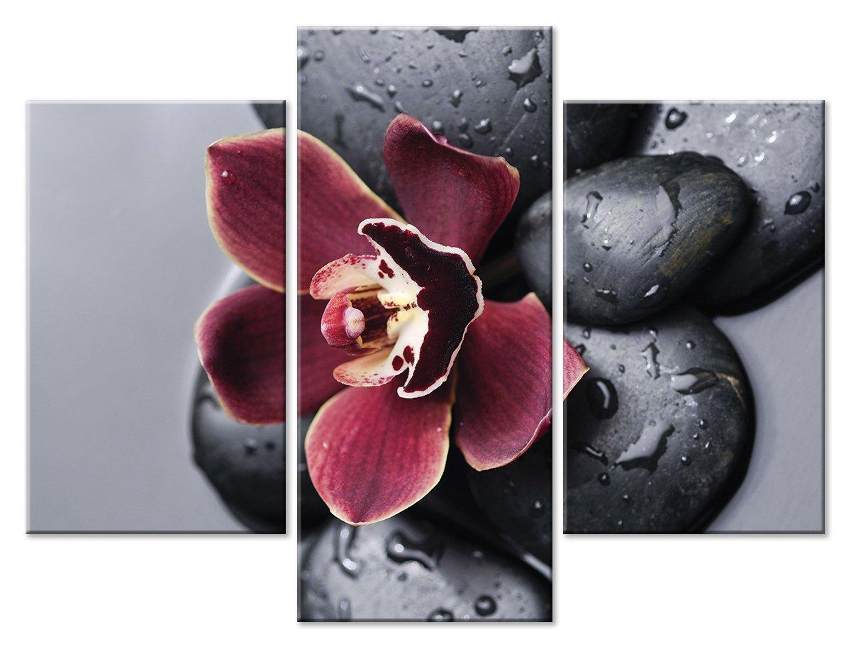Модульная картина «Цветок и камни»Цветы<br>Модульная картина на натуральном холсте и деревянном подрамнике. Подвес в комплекте. Трехслойная надежная упаковка. Доставим в любую точку России. Вам осталось только повесить картину на стену!<br>