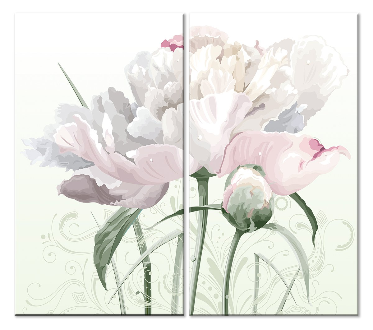 Модульная картина «Невидимая гемометрия цветка»Цветы<br>Модульная картина на натуральном холсте и деревянном подрамнике. Подвес в комплекте. Трехслойная надежная упаковка. Доставим в любую точку России. Вам осталось только повесить картину на стену!<br>