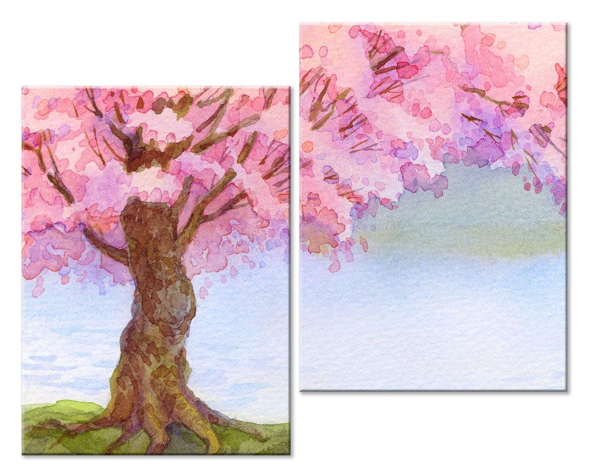 Модульная картина «Розовое дерево»Цветы<br>Модульная картина на натуральном холсте и деревянном подрамнике. Подвес в комплекте. Трехслойная надежная упаковка. Доставим в любую точку России. Вам осталось только повесить картину на стену!<br>