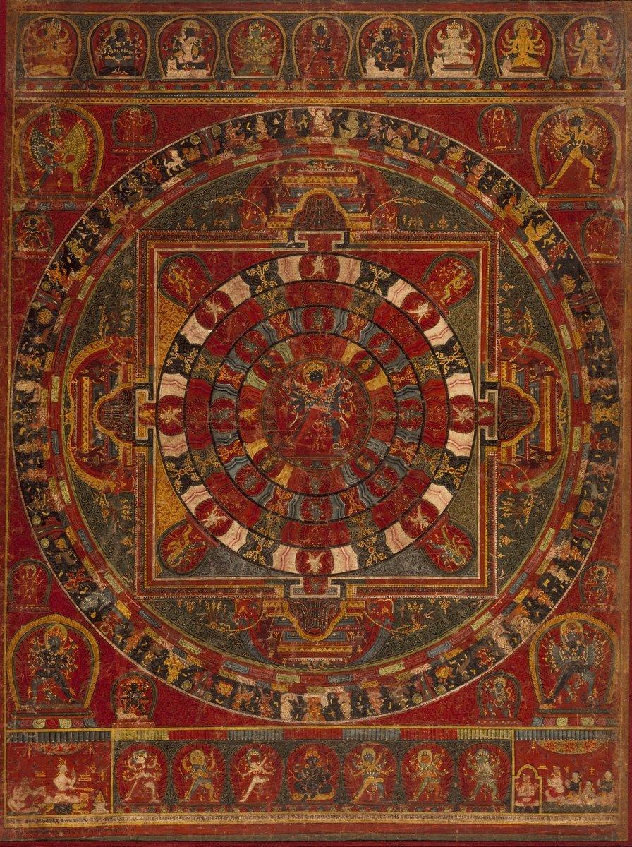 Мандала, картина Мандала буддийского божества ЧакрасамвараМандала<br>Репродукция на холсте или бумаге. Любого нужного вам размера. В раме или без. Подвес в комплекте. Трехслойная надежная упаковка. Доставим в любую точку России. Вам осталось только повесить картину на стену!<br>