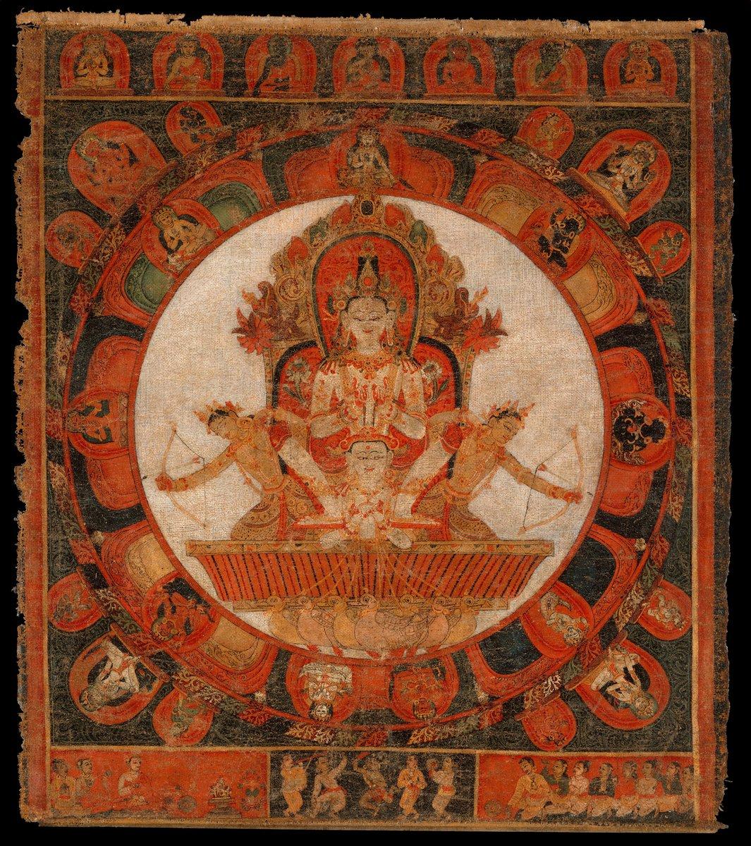 Мандала, картина Мандала Чандра, бог луныМандала<br>Репродукция на холсте или бумаге. Любого нужного вам размера. В раме или без. Подвес в комплекте. Трехслойная надежная упаковка. Доставим в любую точку России. Вам осталось только повесить картину на стену!<br>