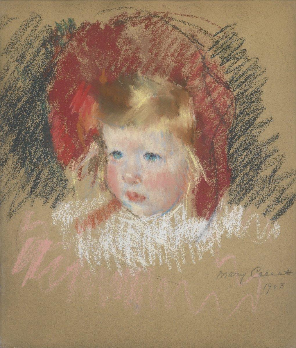 Картины пастелью, картина Кассат Мери «Голова ребенка в красной шляпе»Картины пастелью<br>Репродукция на холсте или бумаге. Любого нужного вам размера. В раме или без. Подвес в комплекте. Трехслойная надежная упаковка. Доставим в любую точку России. Вам осталось только повесить картину на стену!<br>