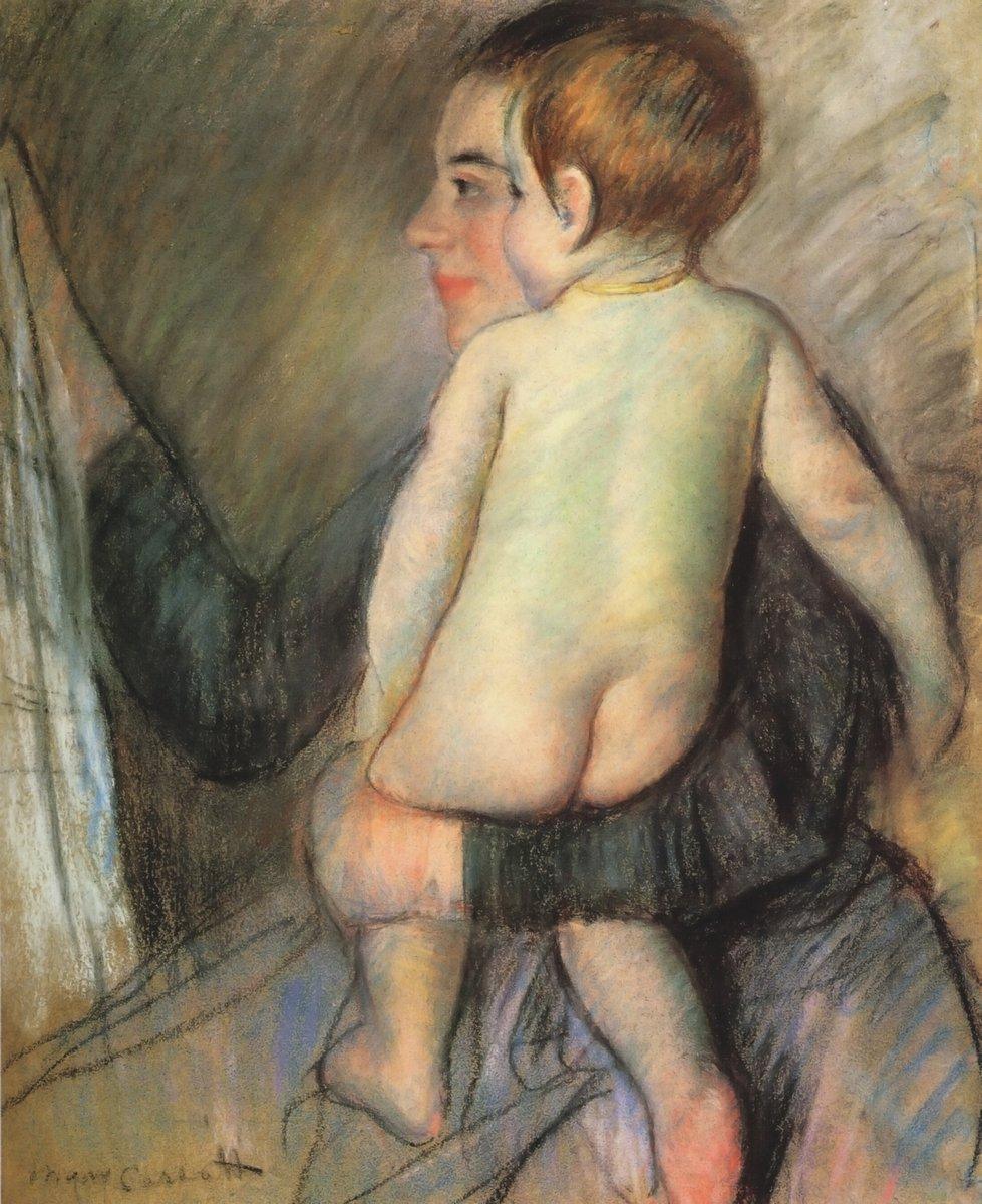 Картины пастелью, картина Кассат Мери «Мать и дитя»Картины пастелью<br>Репродукция на холсте или бумаге. Любого нужного вам размера. В раме или без. Подвес в комплекте. Трехслойная надежная упаковка. Доставим в любую точку России. Вам осталось только повесить картину на стену!<br>