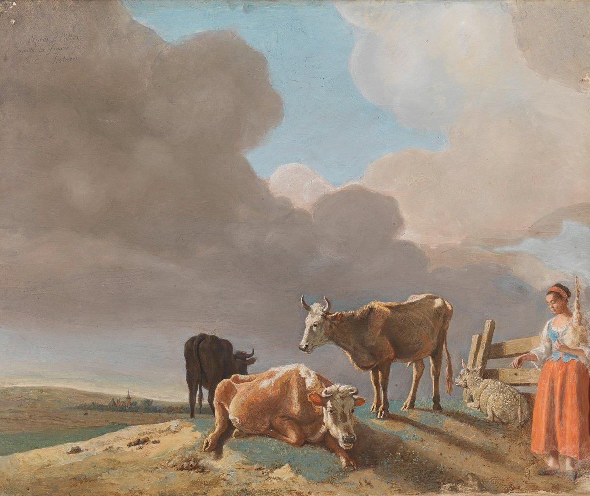 Картины пастелью, картина Лиотар Жан-Этьен «Пейзаж с коровами, овцами и пастушка»Картины пастелью<br>Репродукция на холсте или бумаге. Любого нужного вам размера. В раме или без. Подвес в комплекте. Трехслойная надежная упаковка. Доставим в любую точку России. Вам осталось только повесить картину на стену!<br>