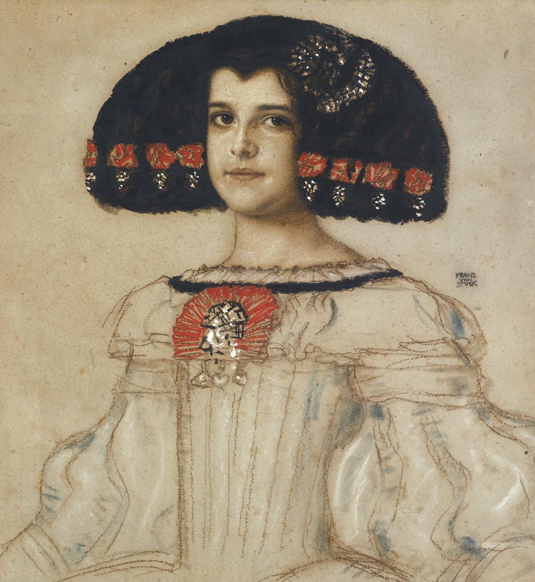 Картины пастелью, картина Фон Штук Франц «Дочь художника Мари в костюме Веласкеса»Картины пастелью<br>Репродукция на холсте или бумаге. Любого нужного вам размера. В раме или без. Подвес в комплекте. Трехслойная надежная упаковка. Доставим в любую точку России. Вам осталось только повесить картину на стену!<br>