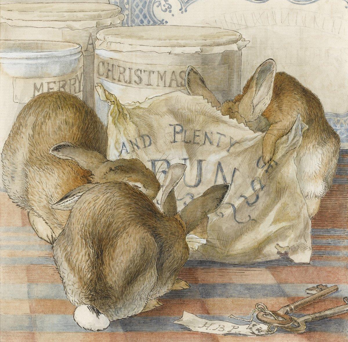 Искусство, картина Поттер Беатрикс, Три кролика едят булочки, 20x20 см, на бумагеСказка в живописи и графике<br>Постер на холсте или бумаге. Любого нужного вам размера. В раме или без. Подвес в комплекте. Трехслойная надежная упаковка. Доставим в любую точку России. Вам осталось только повесить картину на стену!<br>
