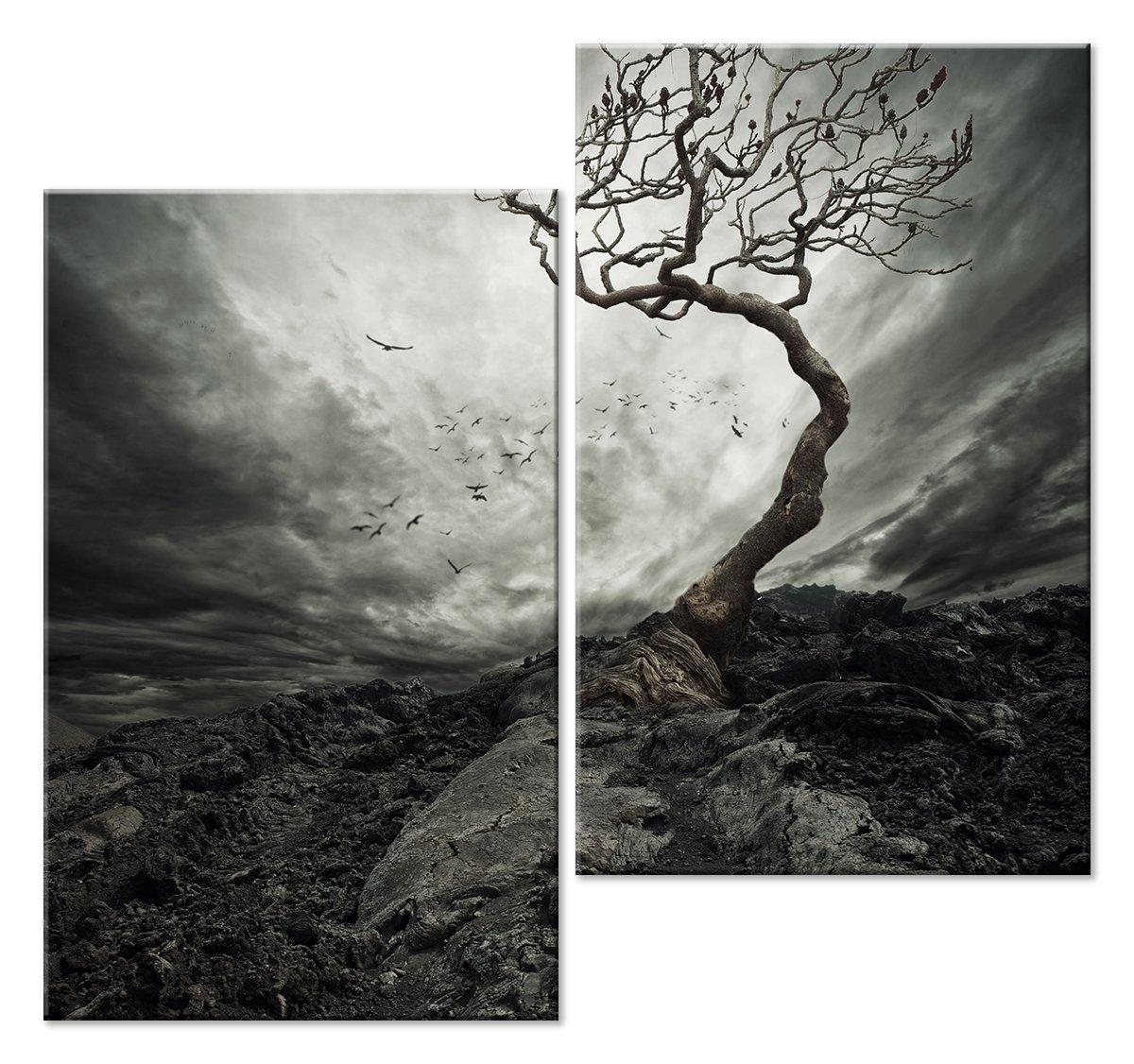 Модульная картина «Дерево одиночества»Природа<br>Модульная картина на натуральном холсте и деревянном подрамнике. Подвес в комплекте. Трехслойная надежная упаковка. Доставим в любую точку России. Вам осталось только повесить картину на стену!<br>