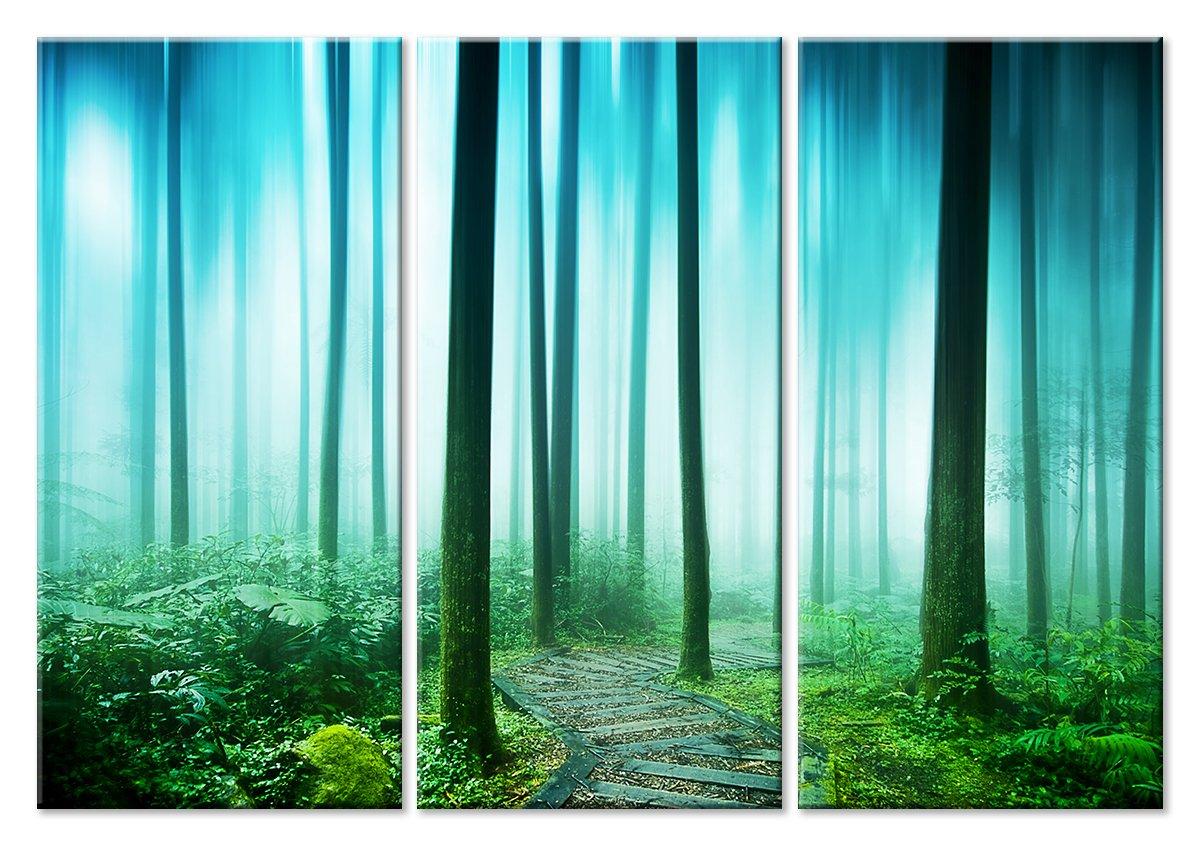 Модульная картина «Таинственный лес»Природа<br>Модульная картина на натуральном холсте и деревянном подрамнике. Подвес в комплекте. Трехслойная надежная упаковка. Доставим в любую точку России. Вам осталось только повесить картину на стену!<br>