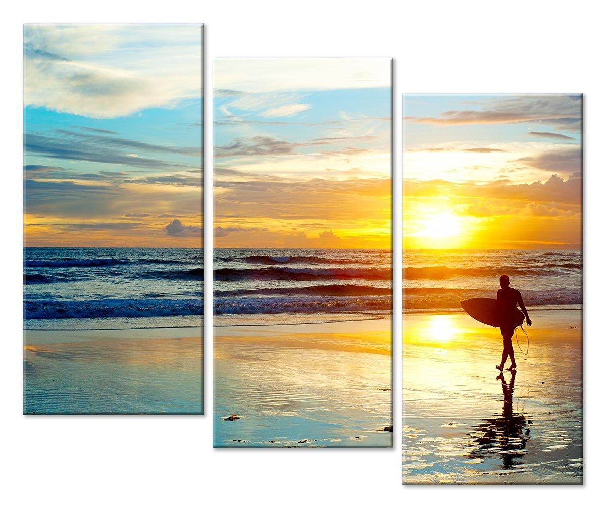 Модульная картина «Море на закате»Море<br>Модульная картина на натуральном холсте и деревянном подрамнике. Подвес в комплекте. Трехслойная надежная упаковка. Доставим в любую точку России. Вам осталось только повесить картину на стену!<br>