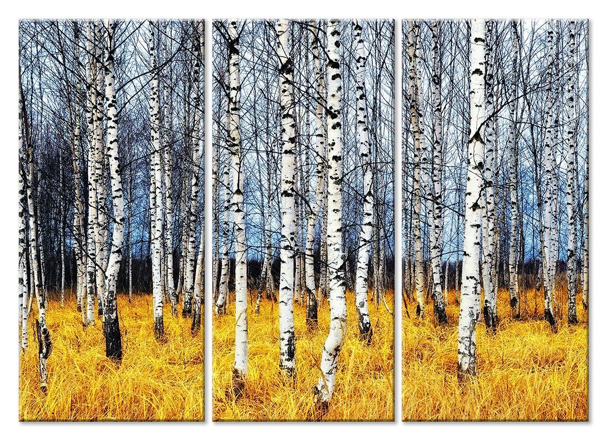 Модульная картина «Березовый лес»Природа<br>Модульная картина на натуральном холсте и деревянном подрамнике. Подвес в комплекте. Трехслойная надежная упаковка. Доставим в любую точку России. Вам осталось только повесить картину на стену!<br>