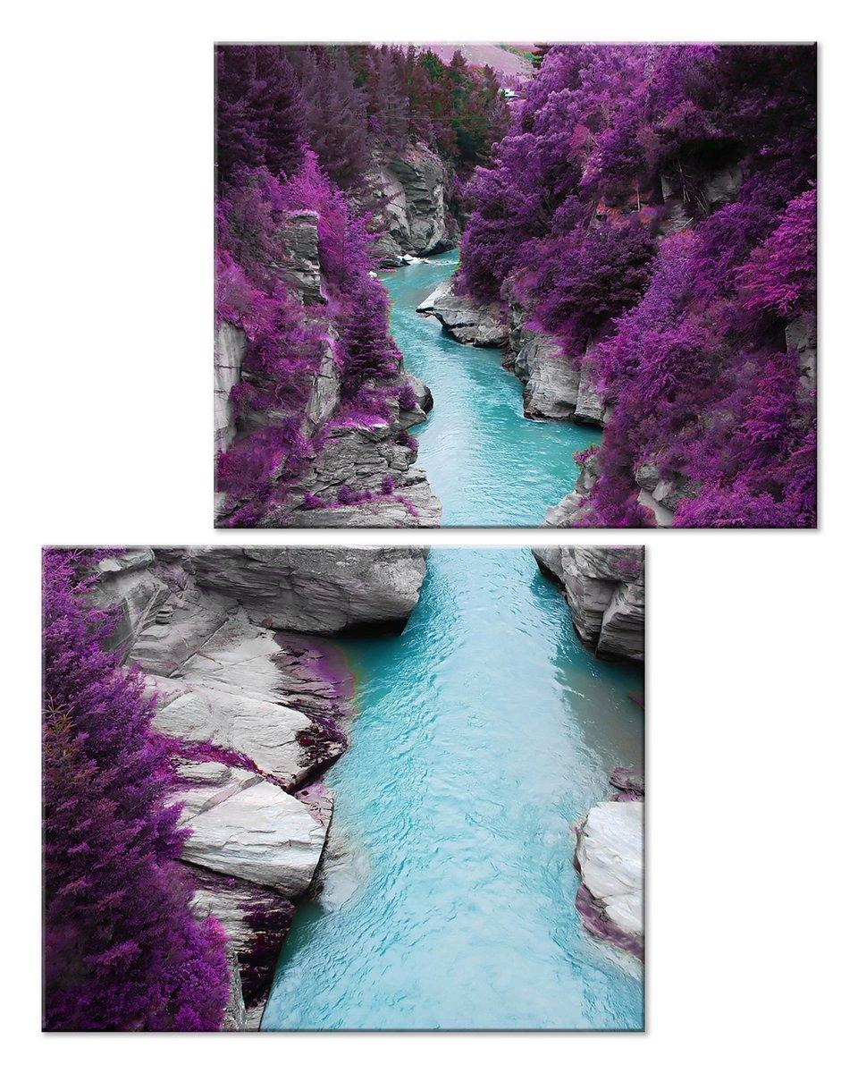 Модульная картина «Горная река»Природа<br>Модульная картина на натуральном холсте и деревянном подрамнике. Подвес в комплекте. Трехслойная надежная упаковка. Доставим в любую точку России. Вам осталось только повесить картину на стену!<br>
