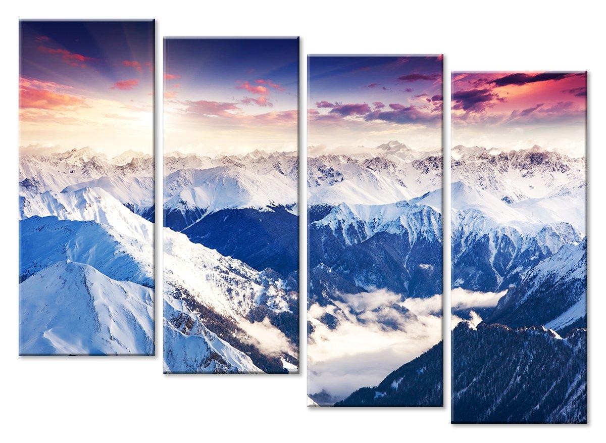 Модульная картина «Горы»Природа<br>Модульная картина на натуральном холсте и деревянном подрамнике. Подвес в комплекте. Трехслойная надежная упаковка. Доставим в любую точку России. Вам осталось только повесить картину на стену!<br>