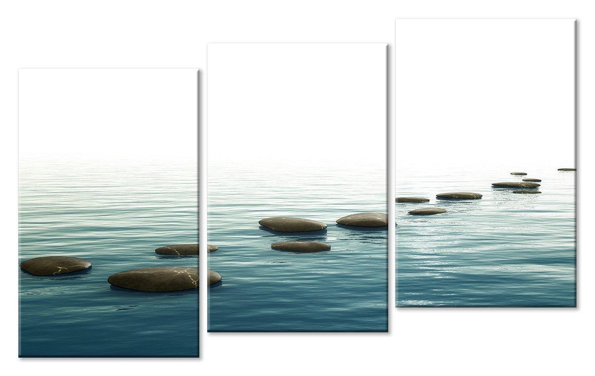 Модульная картина «Дорога по воде»Природа<br>Модульная картина на натуральном холсте и деревянном подрамнике. Подвес в комплекте. Трехслойная надежная упаковка. Доставим в любую точку России. Вам осталось только повесить картину на стену!<br>