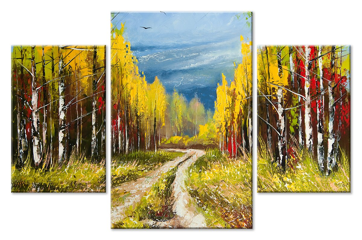Модульная картина «В лесу»Природа<br>Модульная картина на натуральном холсте и деревянном подрамнике. Подвес в комплекте. Трехслойная надежная упаковка. Доставим в любую точку России. Вам осталось только повесить картину на стену!<br>