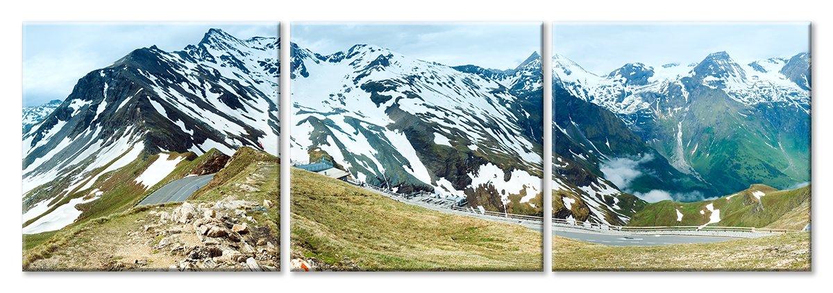 Модульная картина «Шоссе в горах»Природа<br>Модульная картина на натуральном холсте и деревянном подрамнике. Подвес в комплекте. Трехслойная надежная упаковка. Доставим в любую точку России. Вам осталось только повесить картину на стену!<br>