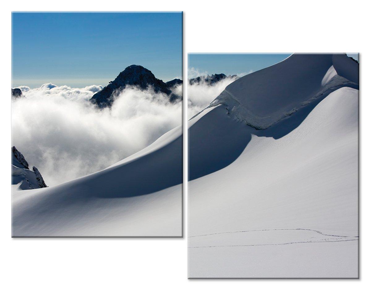 Модульная картина «Снежный пик»Природа<br>Модульная картина на натуральном холсте и деревянном подрамнике. Подвес в комплекте. Трехслойная надежная упаковка. Доставим в любую точку России. Вам осталось только повесить картину на стену!<br>