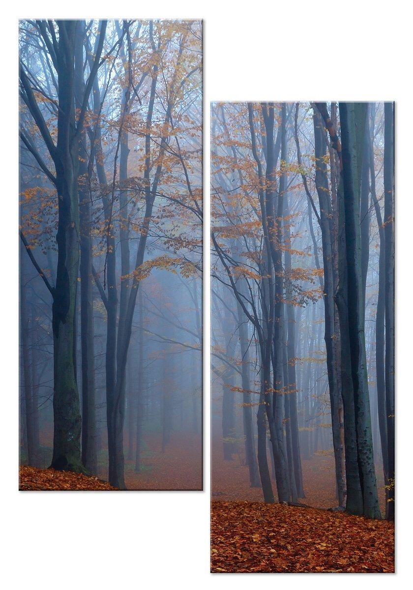 Модульная картина «Туманный лес»Природа<br>Модульная картина на натуральном холсте и деревянном подрамнике. Подвес в комплекте. Трехслойная надежная упаковка. Доставим в любую точку России. Вам осталось только повесить картину на стену!<br>