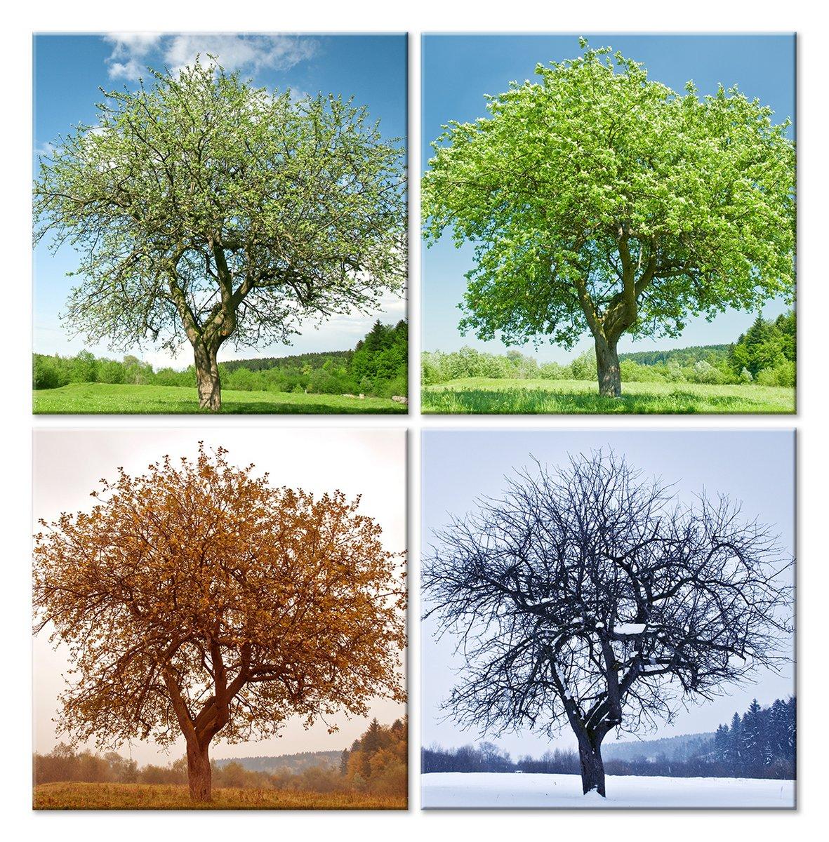 Модульная картина «Дерево, времена года»Природа<br>Модульная картина на натуральном холсте и деревянном подрамнике. Подвес в комплекте. Трехслойная надежная упаковка. Доставим в любую точку России. Вам осталось только повесить картину на стену!<br>