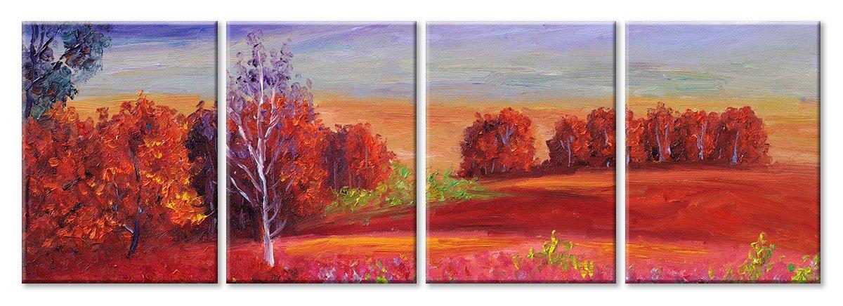 Модульная картина «Осенний этюд»Природа<br>Модульная картина на натуральном холсте и деревянном подрамнике. Подвес в комплекте. Трехслойная надежная упаковка. Доставим в любую точку России. Вам осталось только повесить картину на стену!<br>