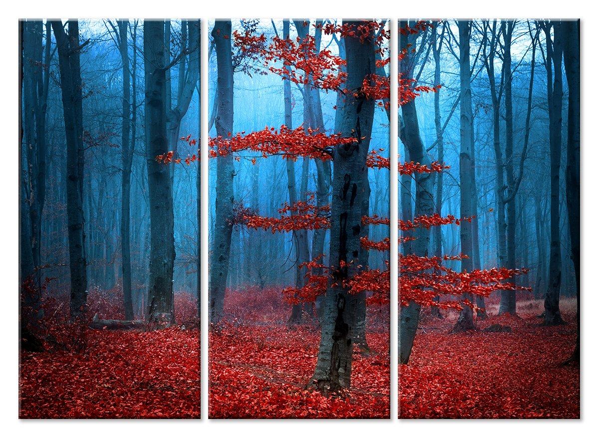 Модульная картина «Красные листья»Природа<br>Модульная картина на натуральном холсте и деревянном подрамнике. Подвес в комплекте. Трехслойная надежная упаковка. Доставим в любую точку России. Вам осталось только повесить картину на стену!<br>