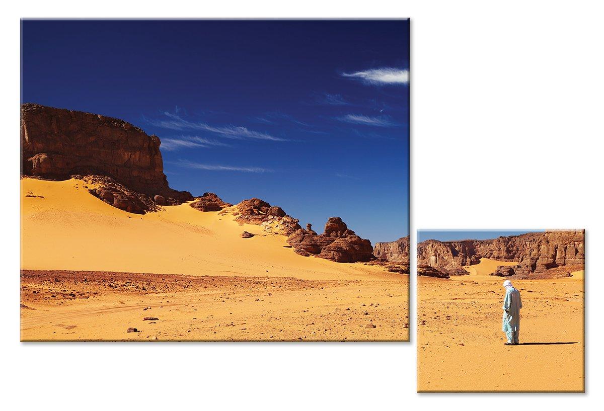 Модульная картина «Человек в пустыне»Природа<br>Модульная картина на натуральном холсте и деревянном подрамнике. Подвес в комплекте. Трехслойная надежная упаковка. Доставим в любую точку России. Вам осталось только повесить картину на стену!<br>