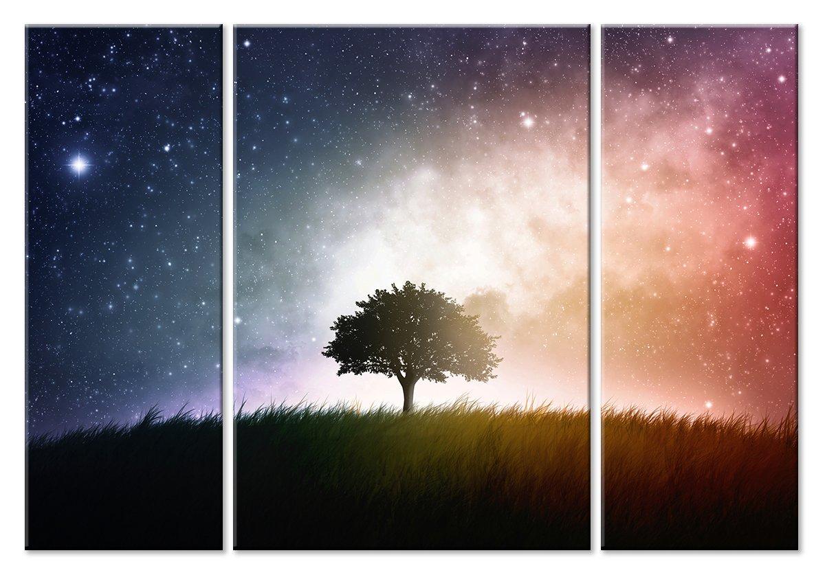 Модульная картина «Миллиарды звезд на небе»Природа<br>Модульная картина на натуральном холсте и деревянном подрамнике. Подвес в комплекте. Трехслойная надежная упаковка. Доставим в любую точку России. Вам осталось только повесить картину на стену!<br>