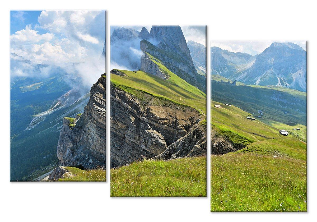 Модульная картина «Жизнь в горах»Природа<br>Модульная картина на натуральном холсте и деревянном подрамнике. Подвес в комплекте. Трехслойная надежная упаковка. Доставим в любую точку России. Вам осталось только повесить картину на стену!<br>