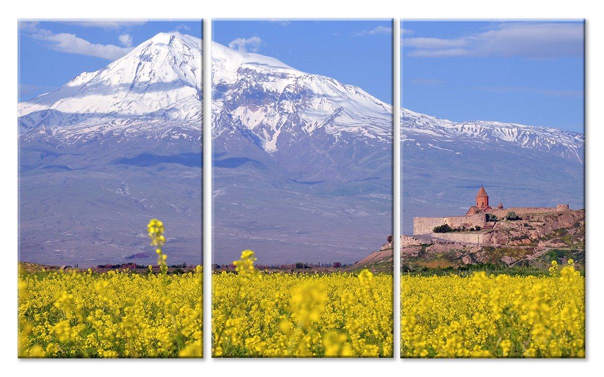 Модульная картина «Величие горы»Природа<br>Модульная картина на натуральном холсте и деревянном подрамнике. Подвес в комплекте. Трехслойная надежная упаковка. Доставим в любую точку России. Вам осталось только повесить картину на стену!<br>