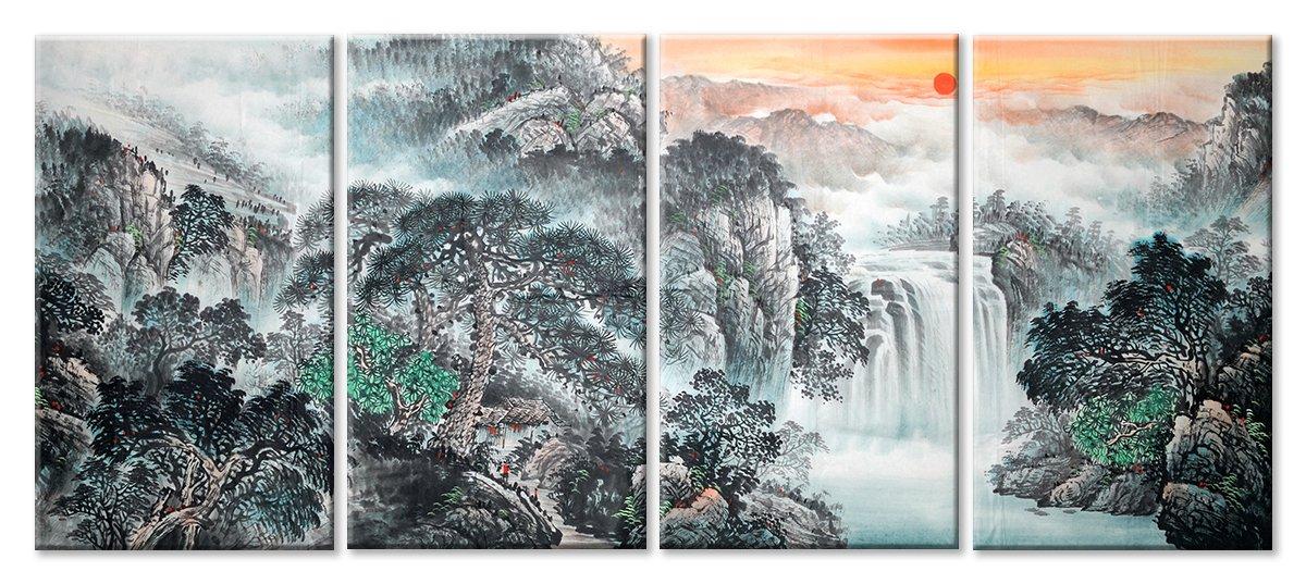 Модульная картина «Японская природа», 112x50 см, модульная картинаПрирода<br>Модульная картина на натуральном холсте и деревянном подрамнике. Подвес в комплекте. Трехслойная надежная упаковка. Доставим в любую точку России. Вам осталось только повесить картину на стену!<br>