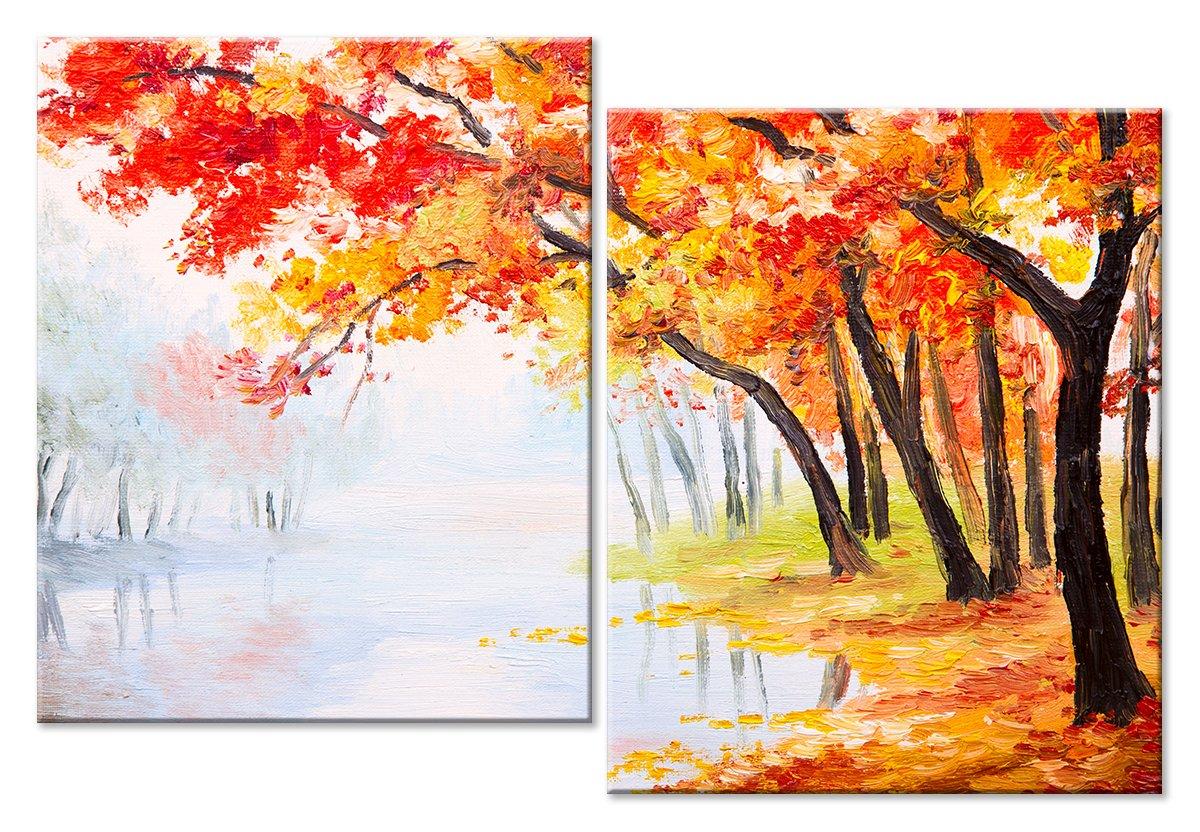 Модульная картина «Осень»Природа<br>Модульная картина на натуральном холсте и деревянном подрамнике. Подвес в комплекте. Трехслойная надежная упаковка. Доставим в любую точку России. Вам осталось только повесить картину на стену!<br>