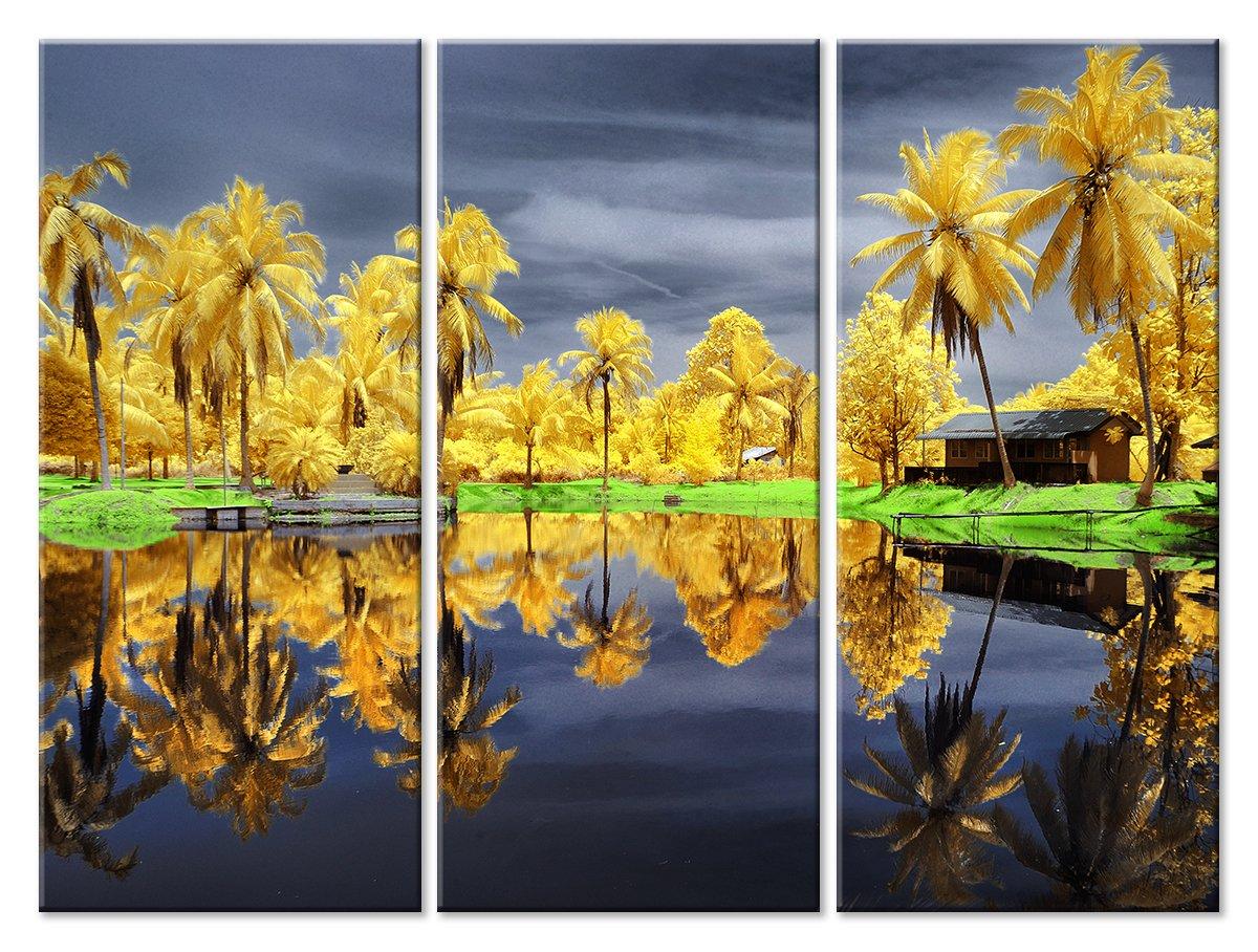 Модульная картина «Желтые пальмы»Природа<br>Модульная картина на натуральном холсте и деревянном подрамнике. Подвес в комплекте. Трехслойная надежная упаковка. Доставим в любую точку России. Вам осталось только повесить картину на стену!<br>