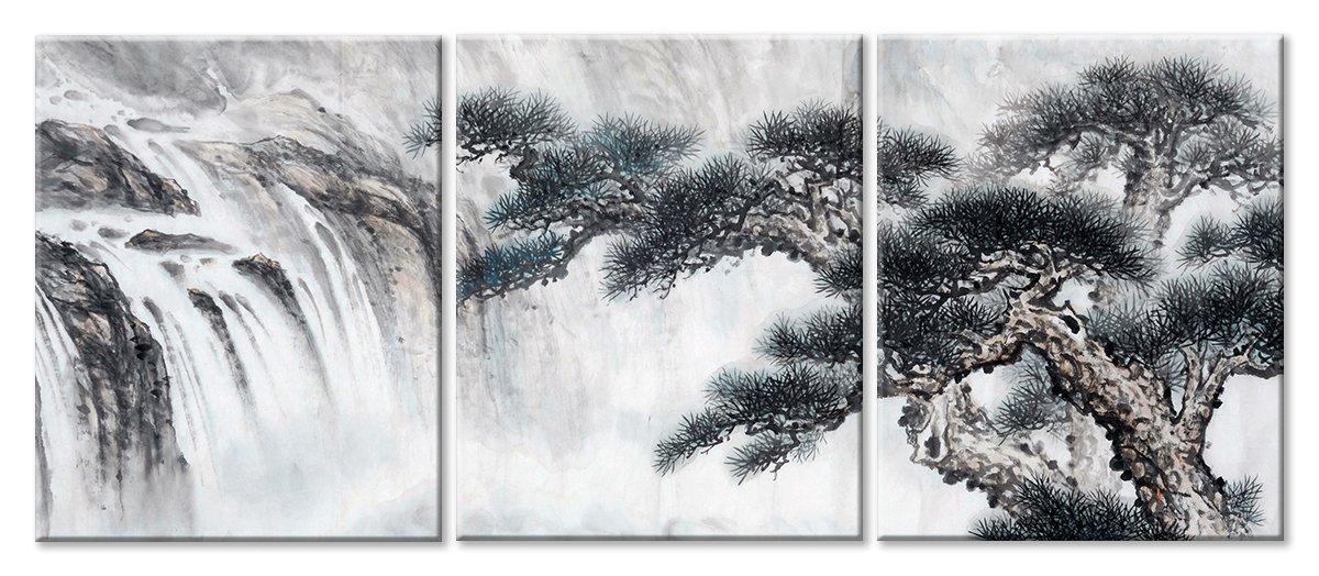 Модульная картина «Водопад в Японии»Природа<br>Модульная картина на натуральном холсте и деревянном подрамнике. Подвес в комплекте. Трехслойная надежная упаковка. Доставим в любую точку России. Вам осталось только повесить картину на стену!<br>