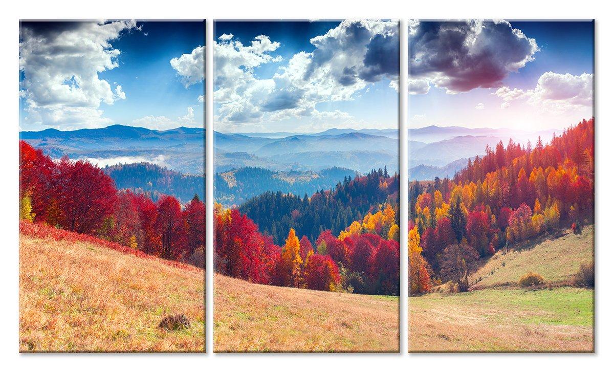Модульная картина «Разноцветные склоны»Природа<br>Модульная картина на натуральном холсте и деревянном подрамнике. Подвес в комплекте. Трехслойная надежная упаковка. Доставим в любую точку России. Вам осталось только повесить картину на стену!<br>