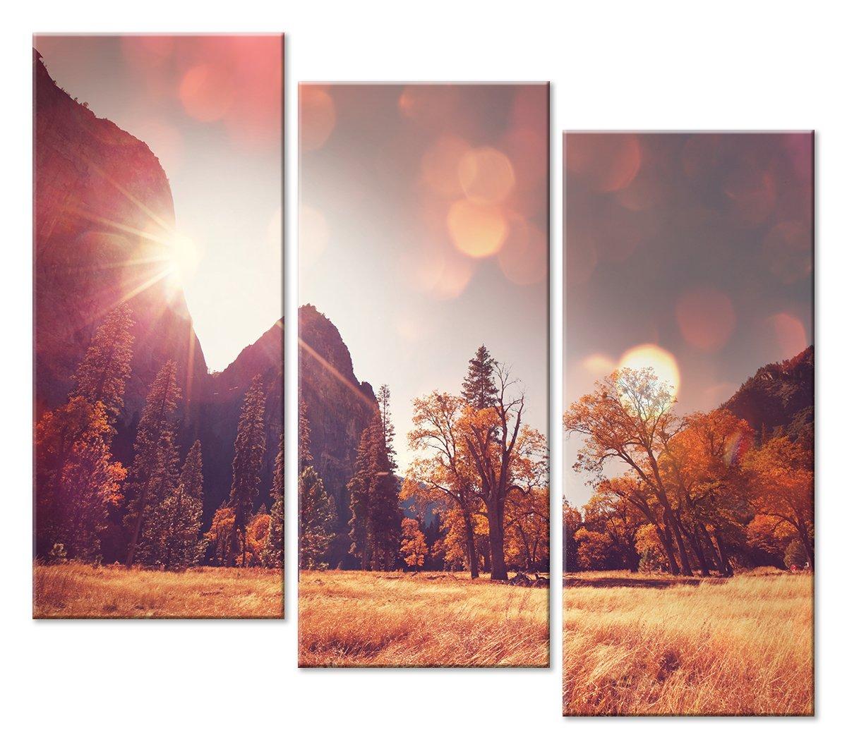Модульная картина «Блики осени»Природа<br>Модульная картина на натуральном холсте и деревянном подрамнике. Подвес в комплекте. Трехслойная надежная упаковка. Доставим в любую точку России. Вам осталось только повесить картину на стену!<br>