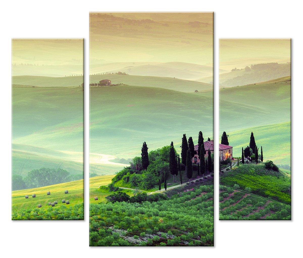Модульная картина «Райские холмы»Природа<br>Модульная картина на натуральном холсте и деревянном подрамнике. Подвес в комплекте. Трехслойная надежная упаковка. Доставим в любую точку России. Вам осталось только повесить картину на стену!<br>